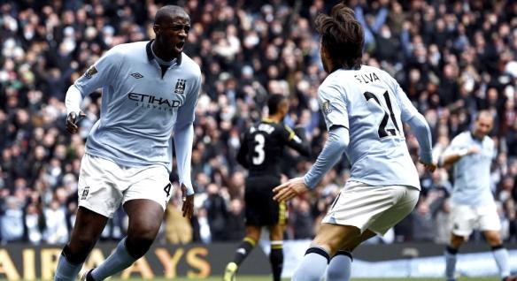 Manchester City Chelsea Yaya Silva Touré